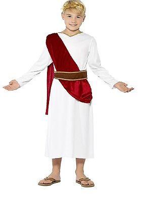 Jungen Römischen Kostüme (Jungen Römische Toga Emporer büchertag Cäsar Historisch Kostüm Kleid Outfit)