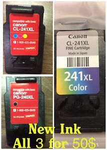 Brand New Ink Canon 240XL/241XL