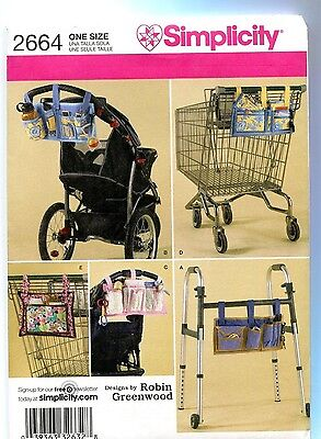 Craft Organizers Walker Stroller Grocery Cart Sewing Pattern Simplicity 2664 ** for sale  Shipping to Nigeria