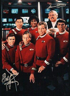 Walter Koenig & James Doohan Star Trek 8x10 Signed DOUBLE AUTOGRAPH Photo Glossy