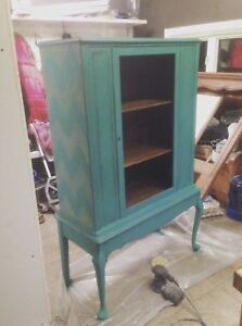 Refinished Hutch/China Cabinet