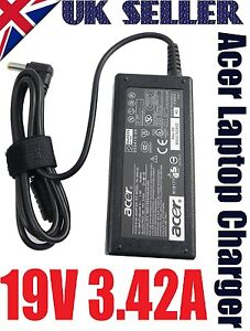 GENUINE 19V 3.42A LITEON PA-1650-02 FOR ACER CHARGER LAPTOP CHARGER SAME POST UK