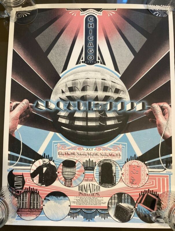 Arcade Fire Poster Chicago 2007 Burlesque Wes Winship Signed and Numbered