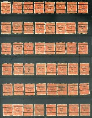 48 Piece US Precancel Collection TEN93