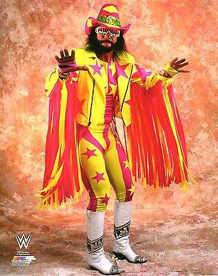 MACHO MAN RANDY SAVAGE WWE PHOTO WRESTLING OFFICIAL STUDIO 8x10 PROMO WWF WCW