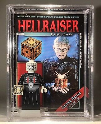 HORROR PINHEAD Hellraiser Custom Mini Action Figure w Case & Stand362 Minifigure - Hellraiser Pinhead
