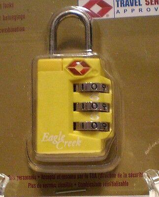 NEW EAGLE CREEK TSA secure Travel lock - 3 DIAL COMBO - YELLOW  #EC-41018 ()