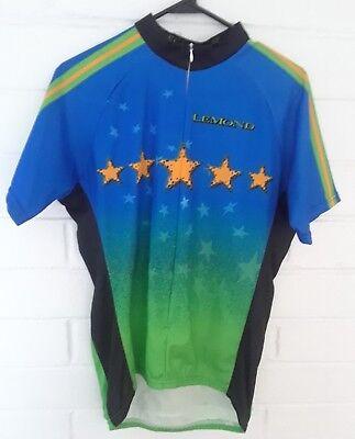 Greg Lemond Cycling Jersey Legendary Men s L 3 4 Zip Short sleeve Poly  Vintage 3089ee204