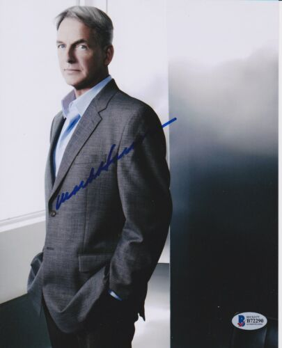 MARK HARMON SIGNED 8X10 PHOTO NCIS UCLA BRUINS BECKETT BAS AUTOGRAPH AUTO A