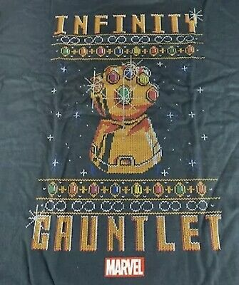 THANOS INFINITY GAUNTLET UGLY Christmas Shirt Marvel COLLECTOR CORPS LARGE FUNKO