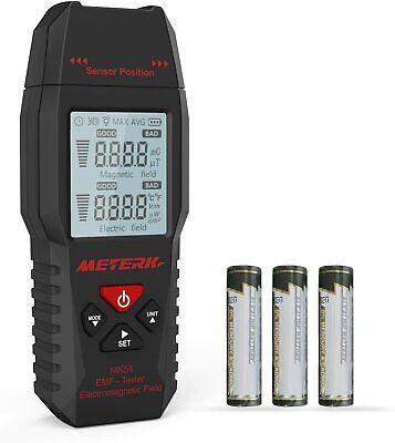 Emf Meter Meterk Electromagnetic Radiation Detector Digital Lcd Backlight