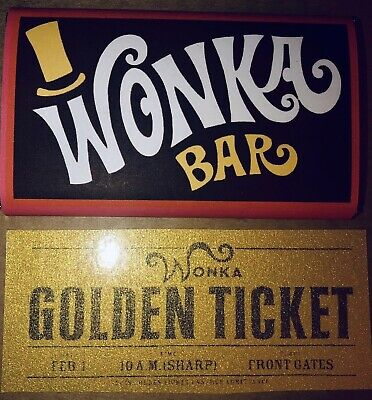 Wonka Bar / Golden Ticket. Wrapper Only No Choc Charlie & The Chocolate Factory