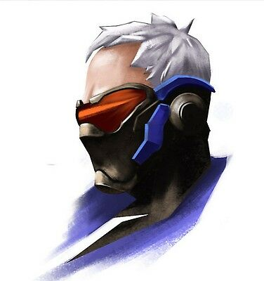 Overwatch cosplay soldier 76 mask DIY* 3-D pepakura paper