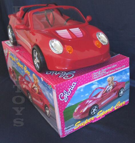 NEW GLORIA DOLL HOUSE FURNITURE SUPER RED SPORT CAR (22010)