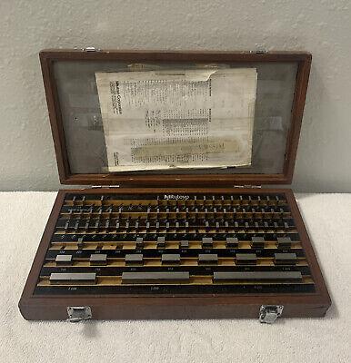 Mitutoyo 516-901 Gauge Block Set 78 Steel Pieces With Wood Case Be1-81-1 Grade 1