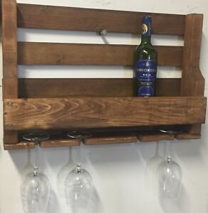 Pallet Wine Rack 6 bottle