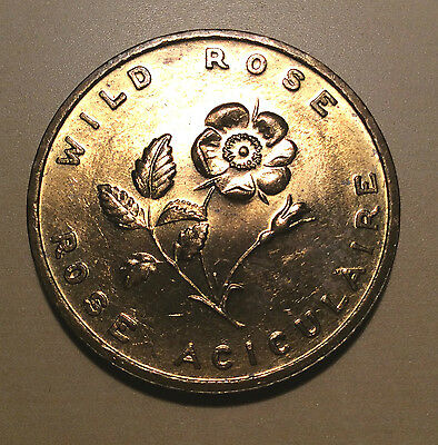 Canada Alberta Wild Rose Coat of Arms 1905 Entered Confederation Medal