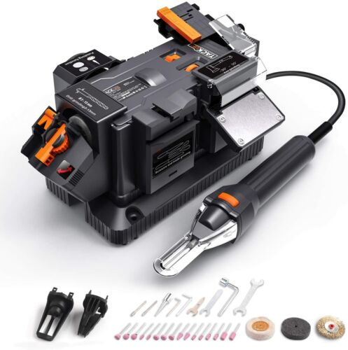 TACKLIFE Multifunctional Bench Grinder 200W (1.67A) with 6 Variable Speeds for S