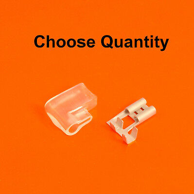 High Quality 6.3mm Flag Terminals With Covers - Female Right Angle Spade Crimp