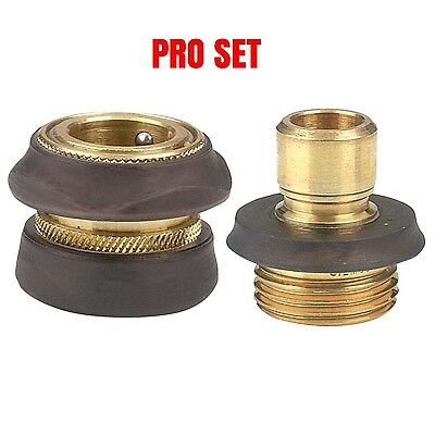 Brass Water Hose - NEW GILMOUR PRO MODEL BRASS WATER GARDEN HOSE QUICK CONNECT SET SALE