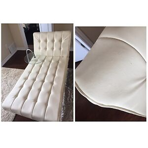 White chaise for sale!