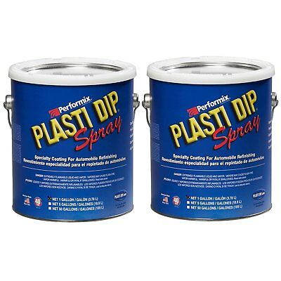 Plasti Dip Multi Purpose Rubber Coating Spray - White - 1 Gallon Pack Of 2