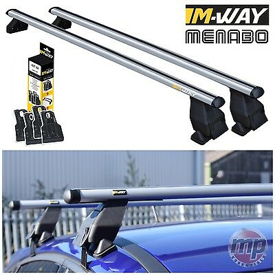 M-Way Aluminium Roof Rack Rail Cross Bars for Vauxhall Corsa E (2015>) + Kit 20 comprar usado  Enviando para Brazil