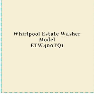 Whirlpool Estate washer for parts