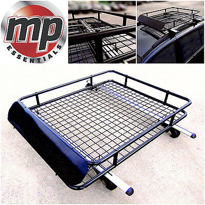 Leisurewize Universal Heavy Duty Steel Aerodynamic Roof Rack Bar Tray Carrier