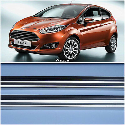 Ford Fiesta 08  3Dr Silver Stainless Steel Kick Plate Door Sill Protectors K158x