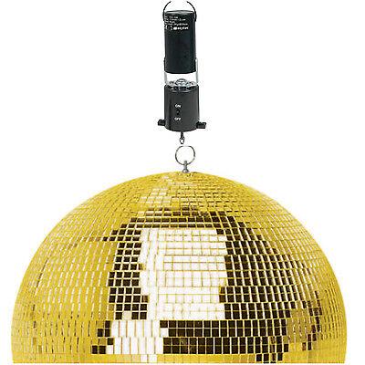 "SoundLAB Lightweight Gold Mirror Disco Dance Party DJ Ball (300mm 12"") + Motor"