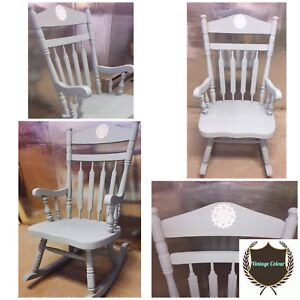 Freshly redone solid rocking chair !