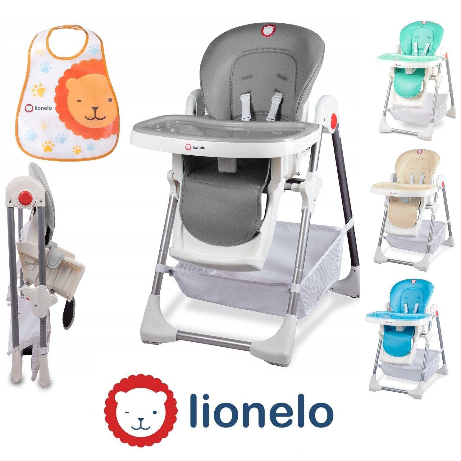 Lionelo Linn Plus Baby Hochstuhl Kinder Stuhl Lehne & Höhe Verstellbar klappbar