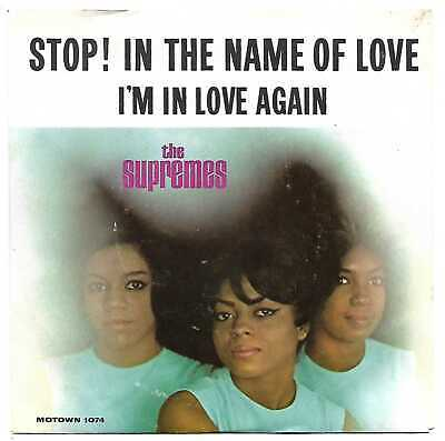 THE SUPREMES Stop! In The Name Of Love RARE MOTOWN PROMO NM 1-SIDED UNPLAYED 45