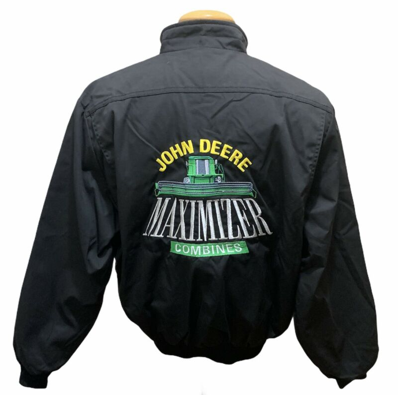 RARE John Deere Maximizer Combines K-Products VINTAGE Jacket Size L Made In USA