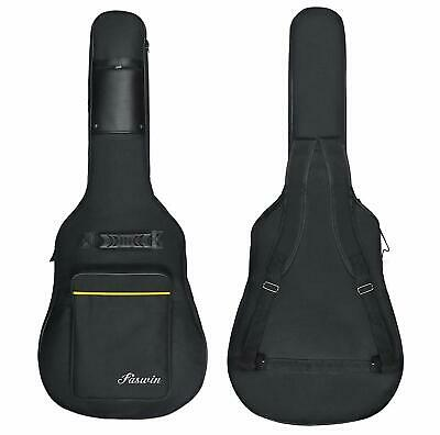 "41"" Acoustic Guitar Hard Case Pocket Padded Gig Soft Fits Most Standard Gift New"