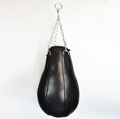 Maisbirne GEFÜLLT 60 cm echtes Leder Boxsack Sandsack Ball Boxbirne gefüllt (Gefüllte Mais)