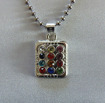 Jewish 12 Tribes Israel Silver Plated Breastplate Ephod Necklace Chain included