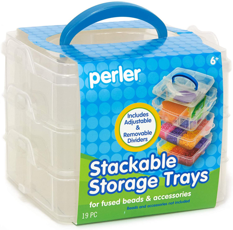 Perler Bead Large Organizer Stackable Storage Container Bead Trays, 3pc. - $11.99
