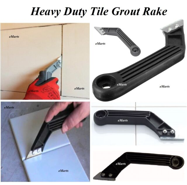 TILE TILING RAKE BLADE GROUT TOOL DIY TUNGSTEN CARBIDE TIPPED REMOVER HEAVY DUTY