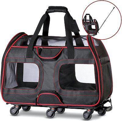 "50% OFF ""USED"" Airline Approved Pet Carrier with Wheels for Small Dogs and Cats"