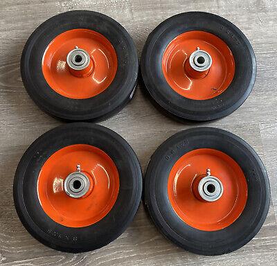 Lot Of 4 New 8x1.75 Offset Hub Caster Wheels 12 Bore Ball Bearing Martin Brand