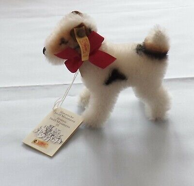 "STEIFF MOHAIR MINIATURE ""FOXY"" REPLICA 1937   (GINNY'S PUP) EX COND"