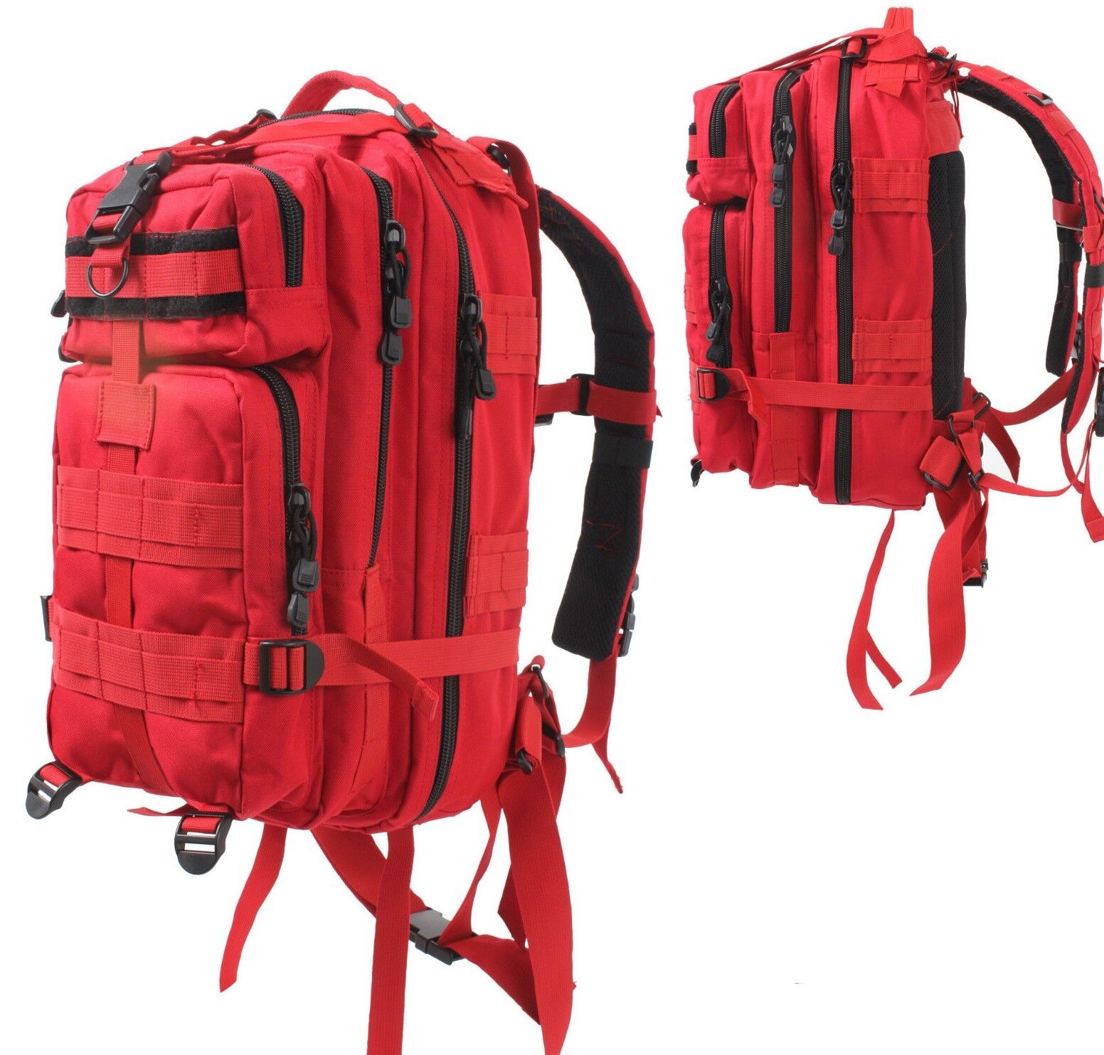 medium transport pack backpack tactical military style red