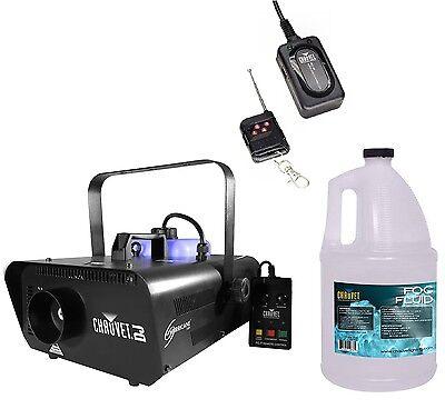 CHAUVET Hurricane H1301 Fog/Smoke Machine + FC-W Wireless Remote + FJU Fog Fluid