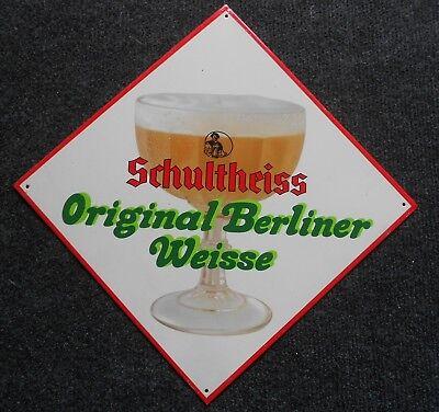 Schultheiss Berliner Weisse altes Blechschild