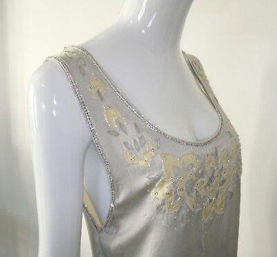 70s silk beaded top 70er Seidenoberteil sehr chic bestickt!