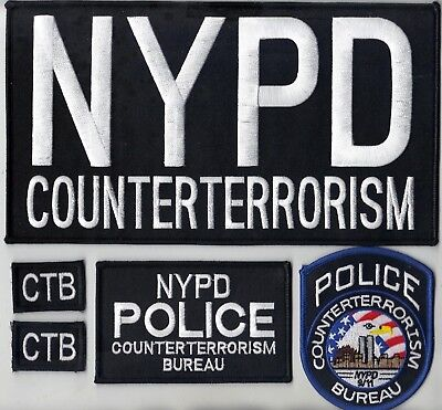 Counter Unit (New York City Counter-Terrorism Unit Police Officer 5-piece Patch)