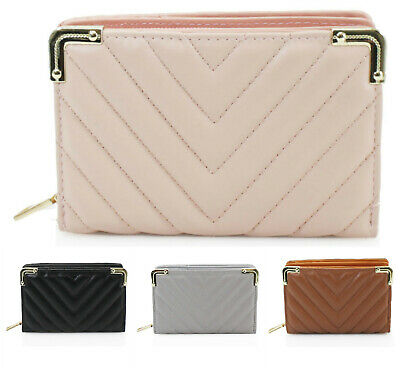 Quilted Design Ladies Medium Wallet Women Photo ID Card Coins Pouch Purse K201M