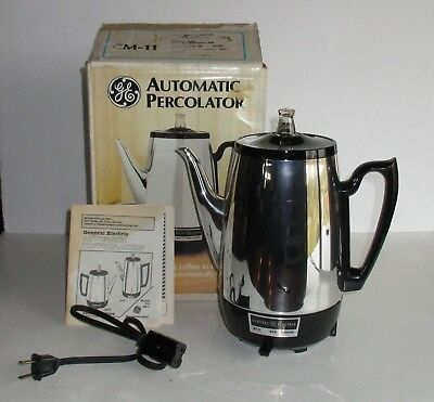 Vintage GE General Electric Automatic Percolator CM-11 Electric NOS w/ Box USA